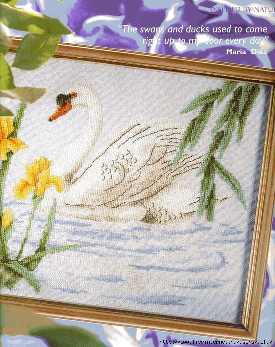 Вышивка крестом, схемы Лебедь.