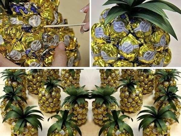 Ёлки из конфет своими руками мастер класс