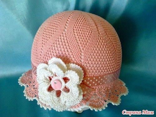 Красивая летняя шляпка с