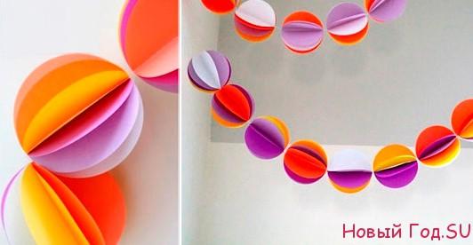 Самым простым способом изготовления объемной гирлянды из шариков является эта.  Чтобы воплотить ее в жизнь необходимо...