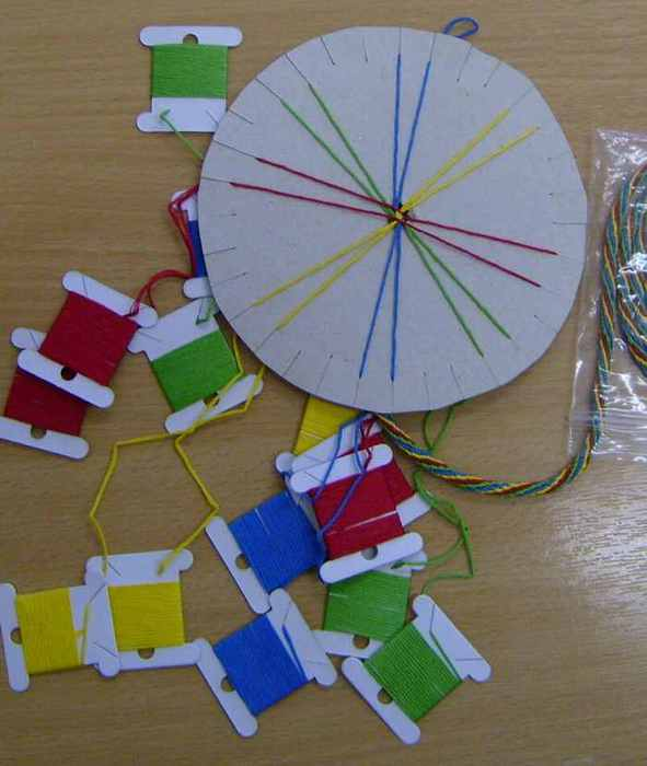 диск для плетения кумихимо