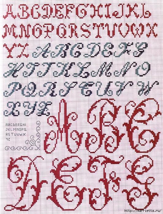 Красивая цветочная вышивка - АЛФАВИТ (6) (532x700, 458Kb)