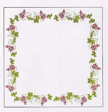 Схема вышивки винограда для скатерти и подушки (6) (382x393, 45Kb)