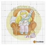 Превью Calendar 2005 Margaret Sherrys Little Kate May Chart (700x696, 426Kb)