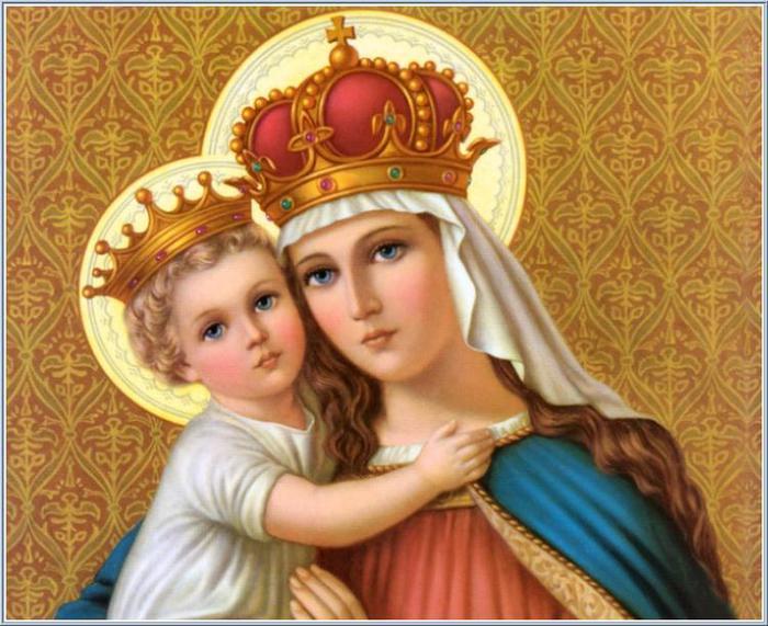 Для декупажа. Изображения Девы Марии с сыном Иисусом (11) (700x571, 69Kb)