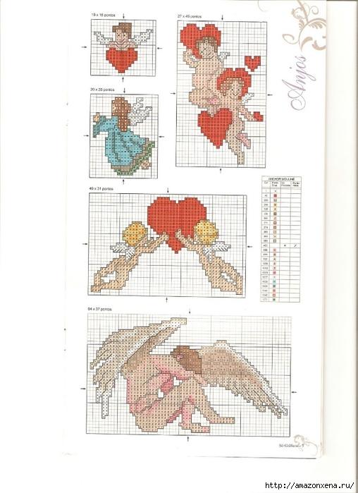 Схемы детской вышивки крестиком. Ангелочки (6) (508x700, 210Kb)