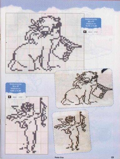 Схемы детской вышивки крестиком. Ангелочки (25) (385x512, 49Kb)