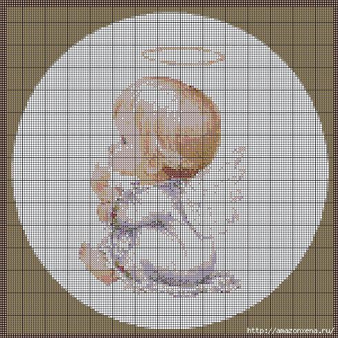 Схемы детской вышивки крестиком. Ангелочки (29) (490x490, 230Kb)