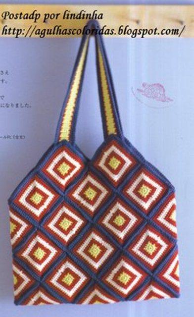 Связать сумки по схеме и уроку