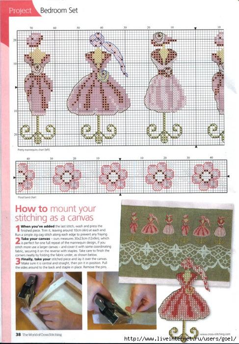 Схемы вышивки манекен