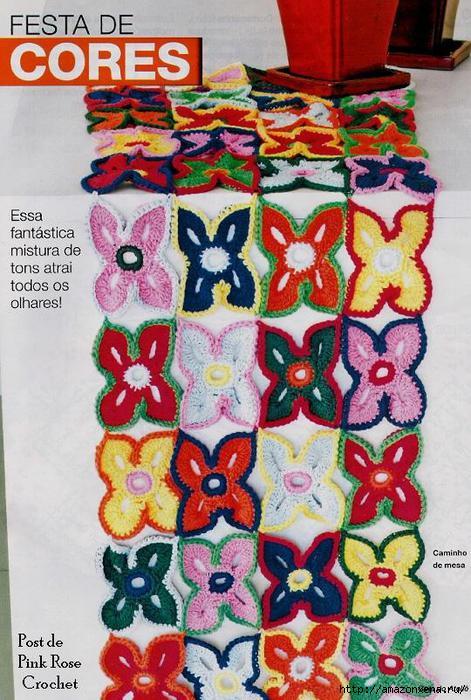 Вязание крючком. Цветочная салфетка (1) (471x700, 224Kb)