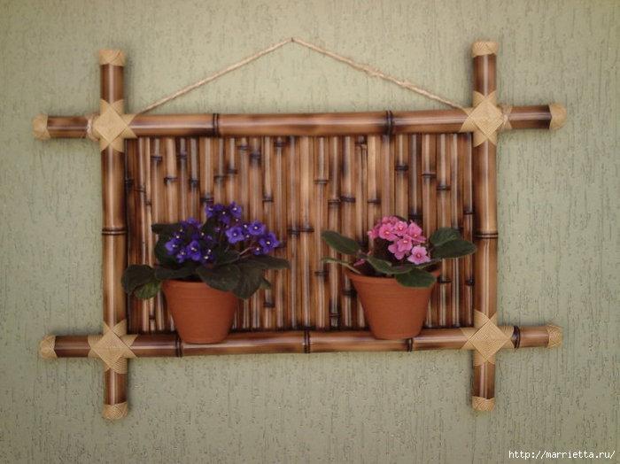 Декор своими руками из бамбука