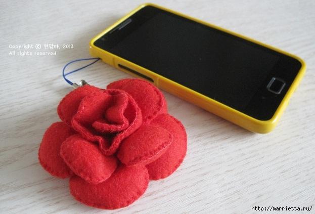 цветок брелок из ткани (21) (623x423, 136Kb)