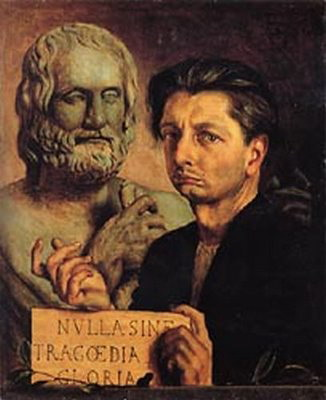 Self-Portrait with bust of Euripides, 1922-23 De Chirico 1a (326x400, 33Kb)