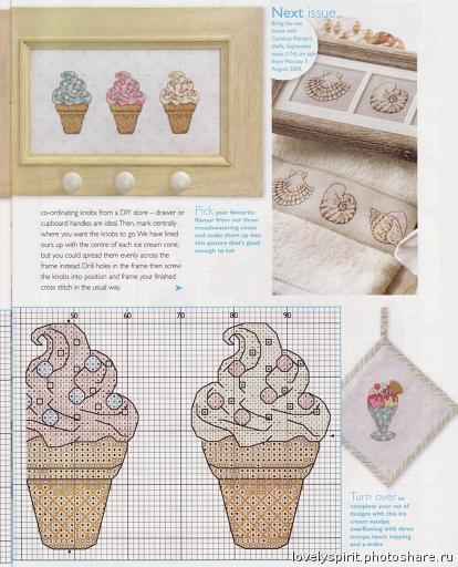Вышивка крестом схема мороженое