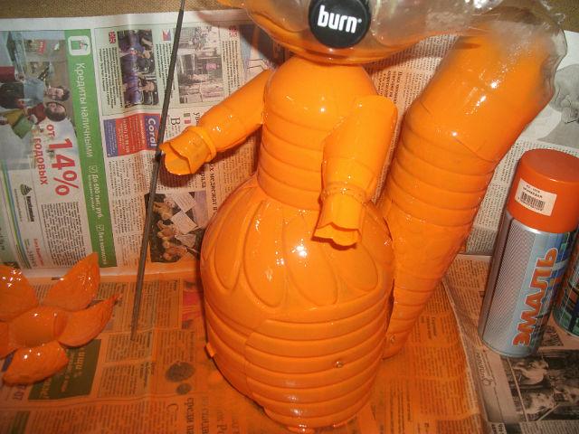 Как Сделать Лису Из Пластиковых Бутылок Инструкция Пошаговая - фото 6