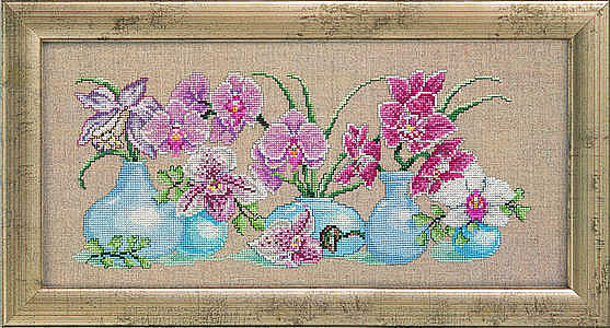 Вышивка орхидеи картинки