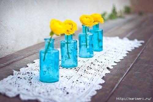 Вазы из пластиковых бутылок своими руками фото 7