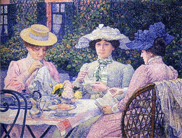 Théo van Rysselberghe - Summer Afternoon (700x532, 409Kb)