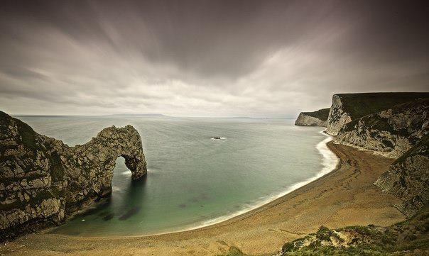 Пляж в Дорсете, Великобритания (604x361, 36Kb)