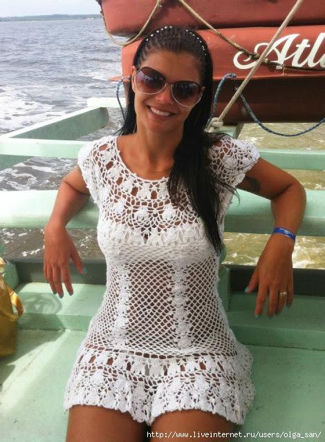 Мини-платье для пляжа