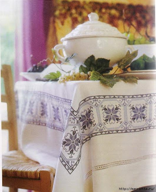 Вышивка на скатерти. Схемы (1)