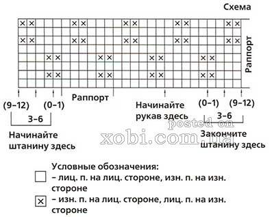 Наберите (66) 66 (70) п. на спицы 2 и провяжите 3... Внимание.  Первую и последнюю петли каждого ряда провязывайте...