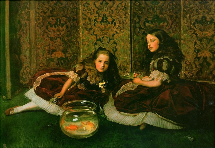 John Everett MILLAIS Leisure Hours 1864 (700x482, 291Kb)