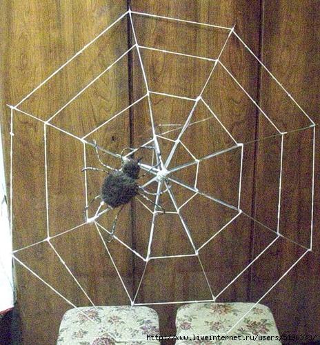 Паутина с пауком своими руками для дачи