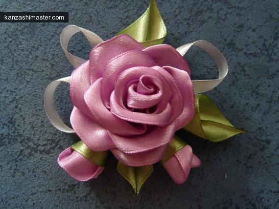 Розы канзаши своими руками фото