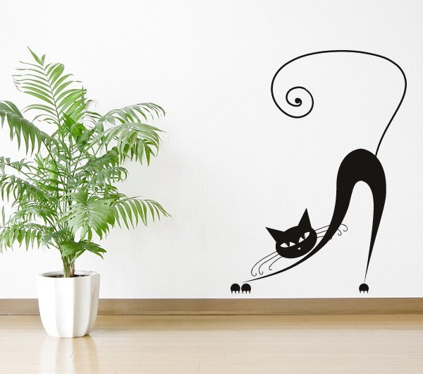 Cat silhouette wall decals