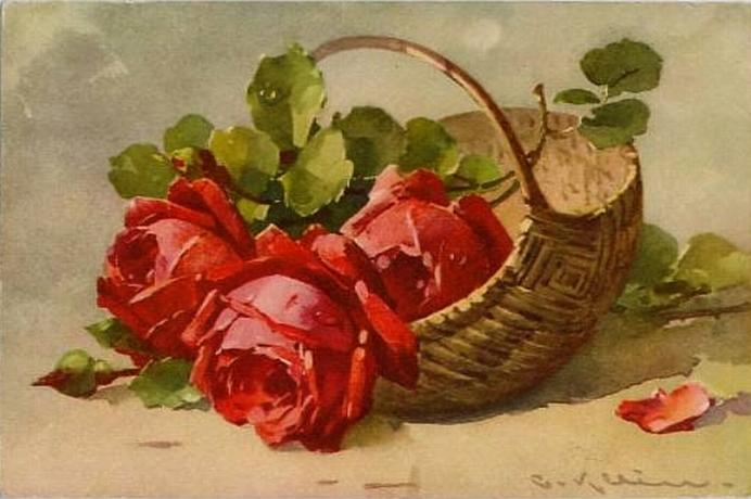 Старинные открытки и картины