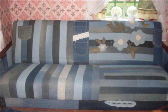 Плед на старый диван своими руками 60