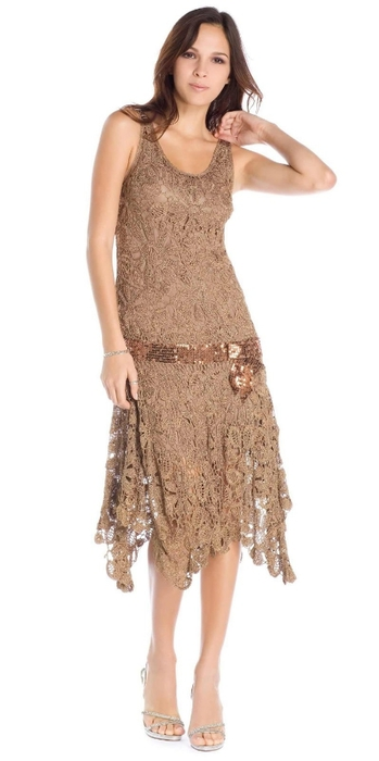 bronze irish crochet dress (349x700, 91Kb)