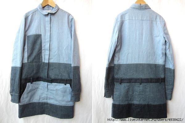 Изображение переделка джинсовых рубашек и платьев из коллекции Джинсовая ткань и все из нее 4 на сайте Пинми.ру.