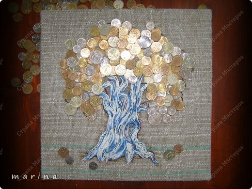 Как сделать дерево с монетами своими руками
