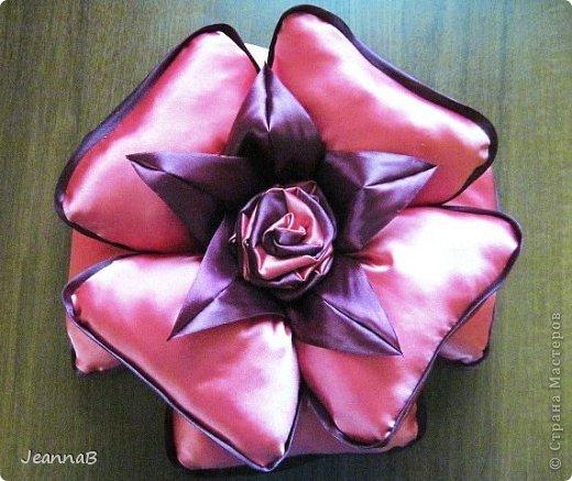 Подушка роза своими руками мастер класс видео