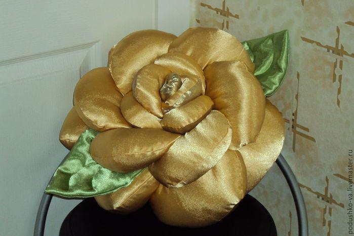Подушка розой своими руками