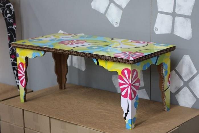 Мебель из картона в интерьере вашего дома 6 (700x466, 59Kb)
