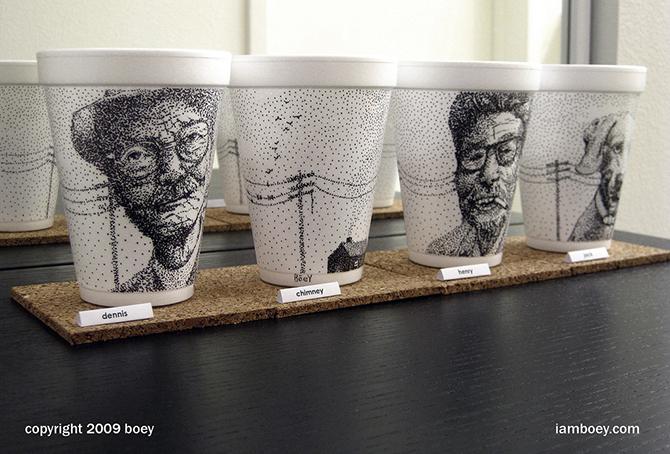 Cheeming Boey рисунки на одноразовых стаканчиках 16 (670x454, 331Kb)