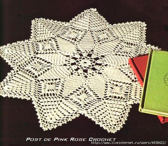 Star Shaped Doily .Centrinho Estrela Croche - PRoseC (550x479, 204Kb)
