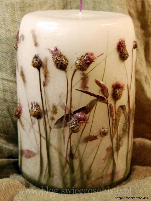 цветочные свечи ручной работы (21) (525x700, 257kb)