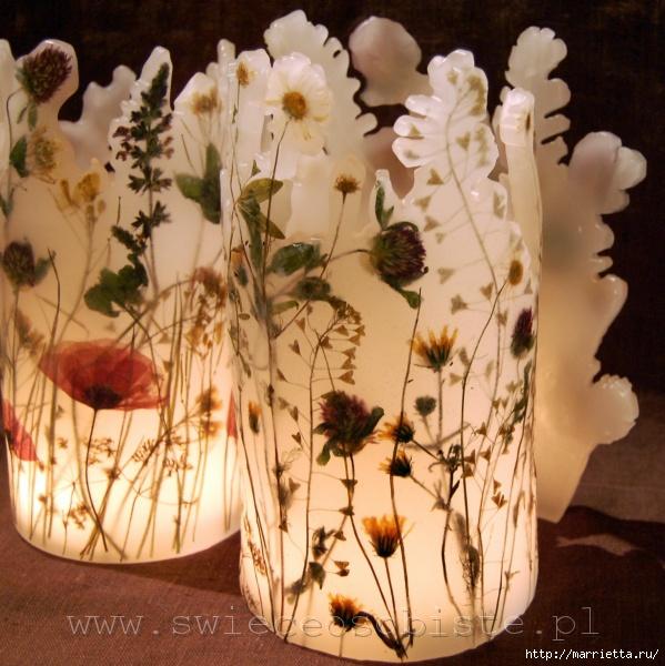 цветочные свечи ручной работы (77) (599x600, 232Kb)