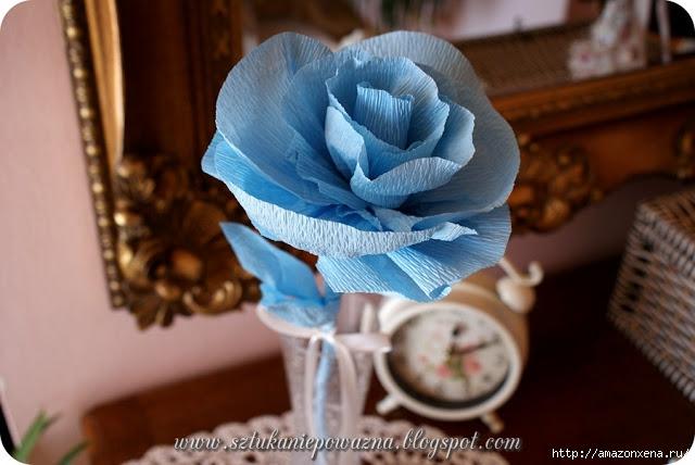 Розы из гофрированной бумаги. Фото мастер-класс (1) (640x428, 150Kb)