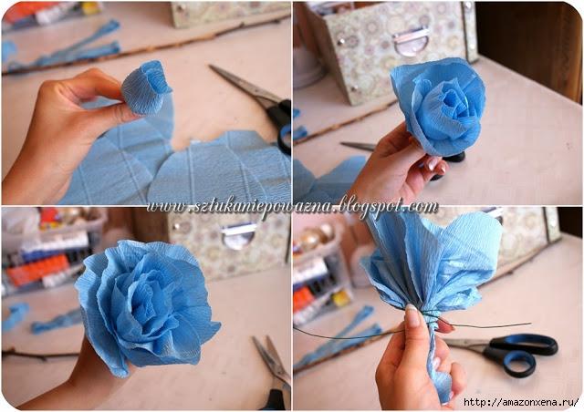 Розы из гофрированной бумаги. Фото мастер-класс (4) (640x452, 190Kb)