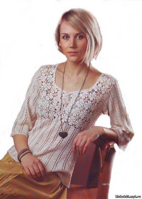 Вязание из льна для женщин 103