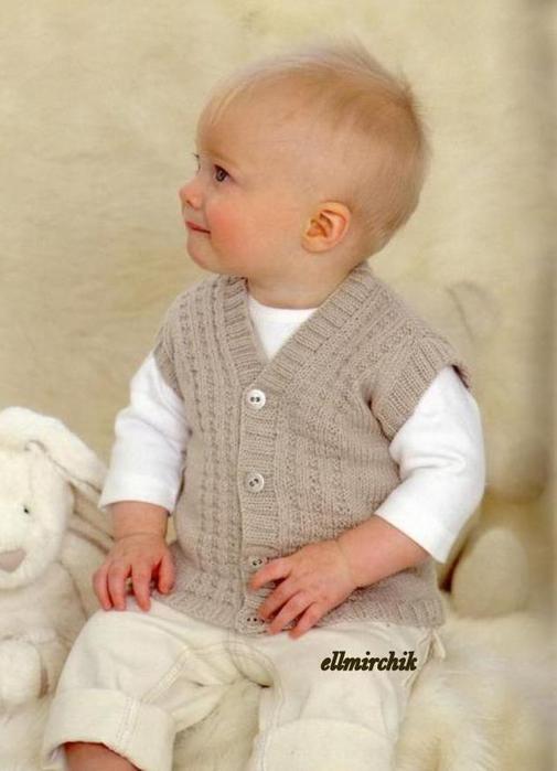 Детская жилетка спицами на: