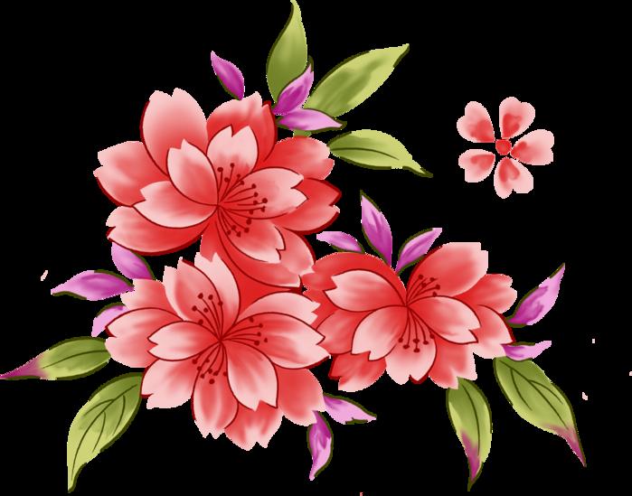 Красивые рисованные цветы