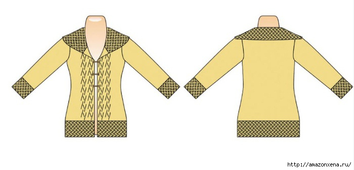 Куртка-жакет спицами (2) (700x337, 82Kb)