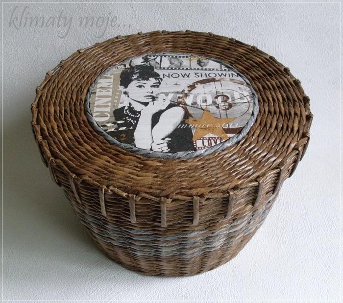 плетение из газет. корзинка с декупажем (1) (700x619, 339Kb)
